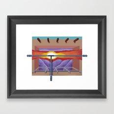 House of the Sun Cloud Framed Art Print