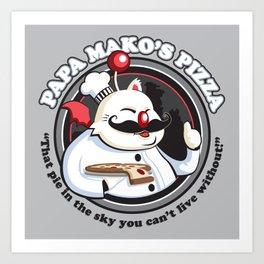 Papa Mako's Pizza Art Print