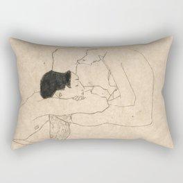 """Egon Schiele """"Lovers"""" Rectangular Pillow"""
