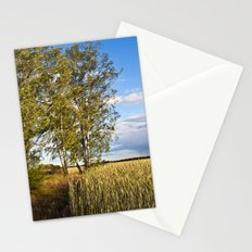 Corn Field with Birch Trees Stationery Cards