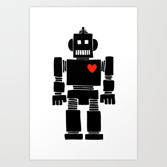 Loverbot Art Print