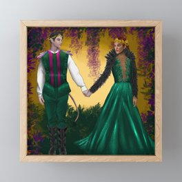 Faerie Couple  Framed Mini Art Print