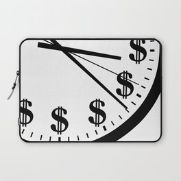 When Time Is Money Laptop Sleeve