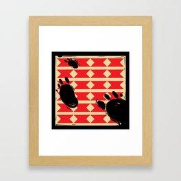 The Hunt Pilliow Framed Art Print