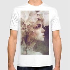 Petal White MEDIUM Mens Fitted Tee