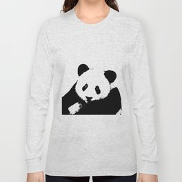 Giant Panda in Black & White Long Sleeve T-shirt