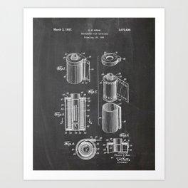 Film Cartridge - Film Canister Drawing Art Print