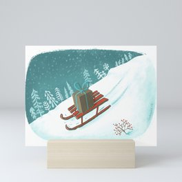 sled post Mini Art Print