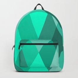 Geometric teal green lovely pattern  Backpack