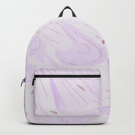 Elegant lilac faux rose gold glitter modern marble Backpack