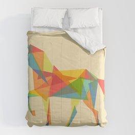 Fractal Geometric Unicorn Comforters