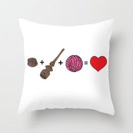 Amor Dulce Throw Pillow