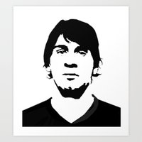 messi Art Prints featuring messi by b & c