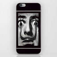 neon genesis evangelion iPhone & iPod Skins featuring I am drugs ( Salvador Dali ) by Black Neon
