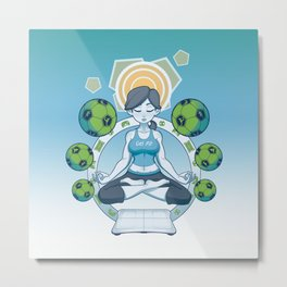 Get Fit - Blue Metal Print