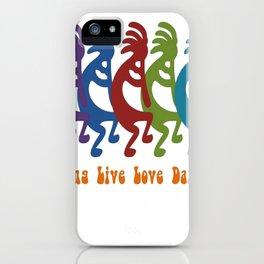 Sing, Live, Love Dance Tribal Kokopelli iPhone Case