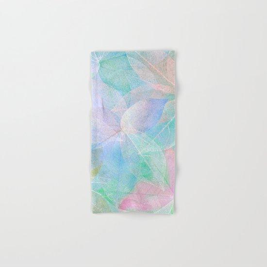 Pastel Colored Leaf Skeletons Hand & Bath Towel