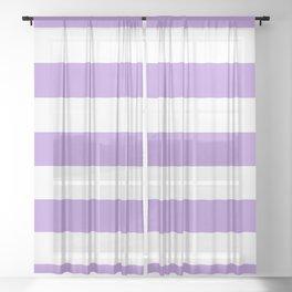 Purple Stripes, Stripes, Striped Pattern, Lines Sheer Curtain