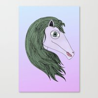 my little pony Canvas Prints featuring My Little Pony by Josefina F. Vigó