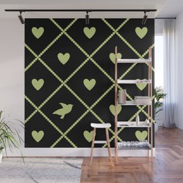 Always Near (from the Valentine set) (colors: midnight lime) Wall Mural