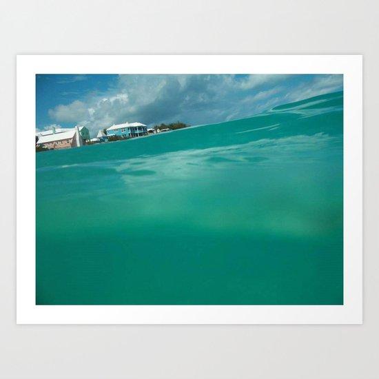 Bermuda Water Art Print