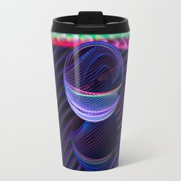 Checkered lines in the glass ball Travel Mug