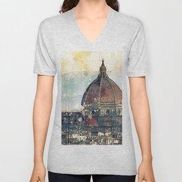 Florence - Cattedrale di Santa Maria del Fiore Unisex V-Neck