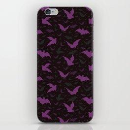 Flying Purple Halloween Bats Vector Pattern iPhone Skin