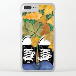 Black Sneakers Clear iPhone Case