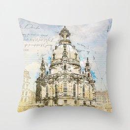 Frauenkirche, Dresden Germany Throw Pillow