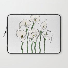 Alcatraz white flowers Laptop Sleeve