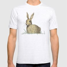 Rabbit Ash Grey Mens Fitted Tee SMALL