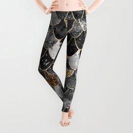 REALLY MERMAID BLACK GOLD Leggings