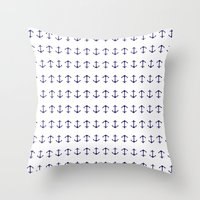 anchors Throw Pillows featuring Anchors by AleDan