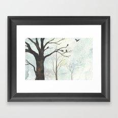Birds of Winter Framed Art Print