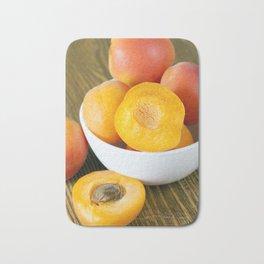 fresh apricots Bath Mat