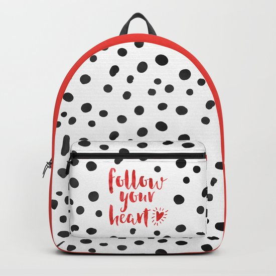 Follow Your Heart Quote Backpack