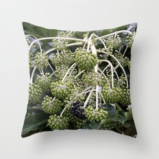 Green Buds Throw Pillow