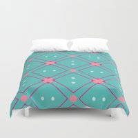 quilt Duvet Covers featuring Quilt by Bunhugger Design