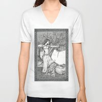 archer V-neck T-shirts featuring Archer by Laura-A