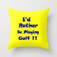 golf Throw Pillows featuring Golf by Brian Raggatt