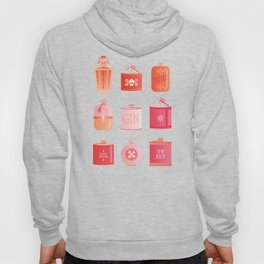 Flask Collection – Pink/Peach Ombré Palette Hoody