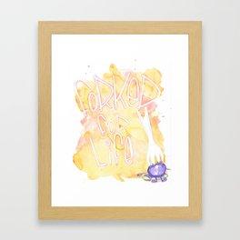 Forked for life Framed Art Print