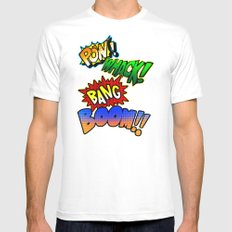 Comic Sounds Mens Fitted Tee MEDIUM White
