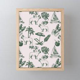 Tropical Dogs Framed Mini Art Print