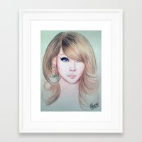 2ne1 Framed Art Prints featuring CL (2NE1) - Lee Chae Rin by Hileeery