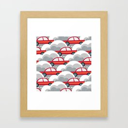 Papercut Cars Framed Art Print