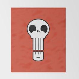 Long Skull Throw Blanket