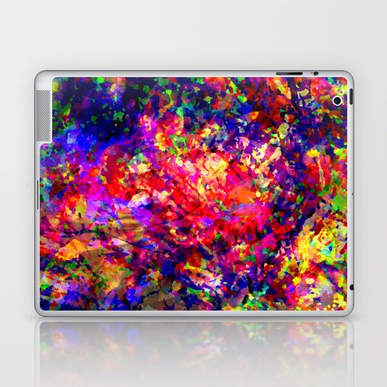 abstract tropical flowers Laptop & iPad Skin