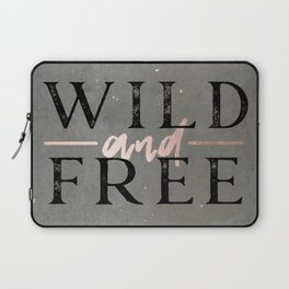 Wild and Free Rose Gold Laptop Sleeve